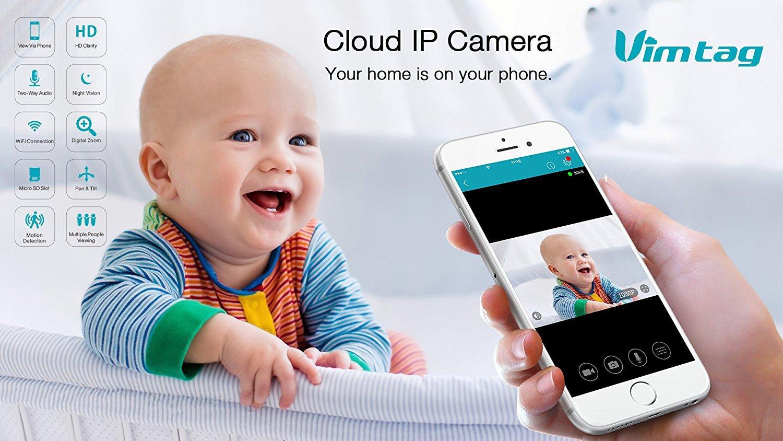CAMERA WIFI IP - CLOUD VIMTAG CP2 - 720P 1.0 MPX