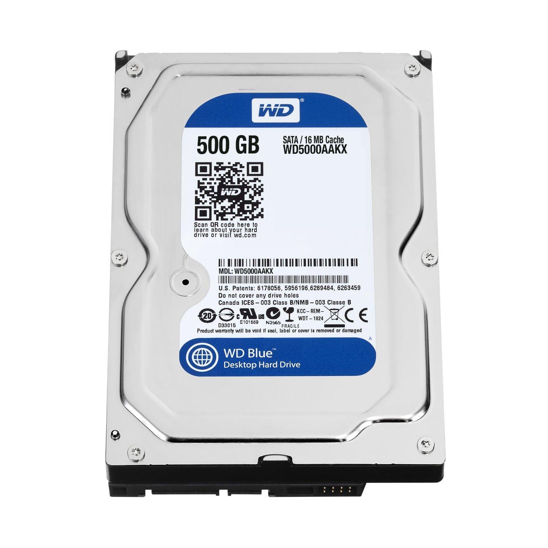 HDD WD Blue 500GB Desktop Hard Disk Drive - 7200 RPM SATA 6 Gb/s 16MB Cache 3.5 Inch - WD5000AAKX
